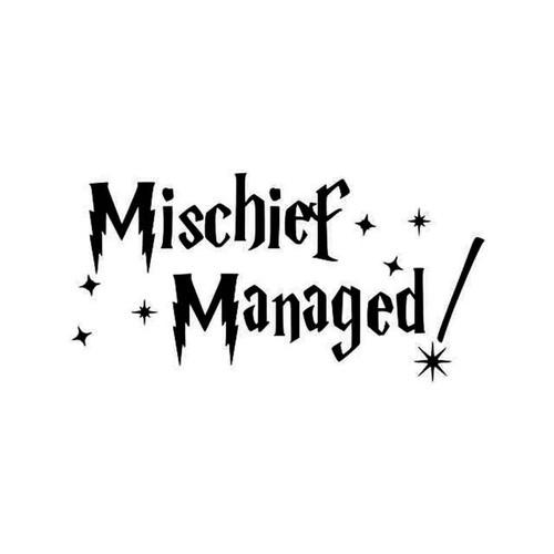 Harry Potter Mischief Managed Vinyl Sticker