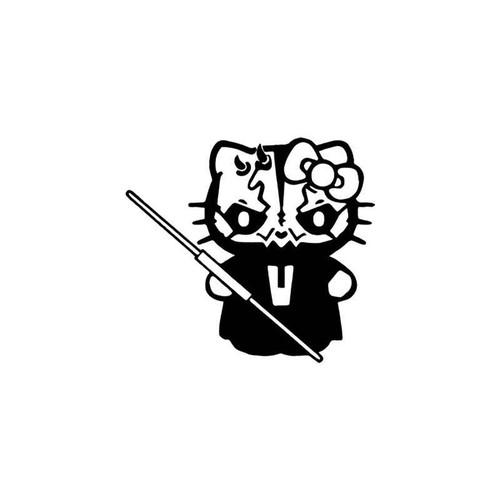 Hello Kitty s Hello Kitty Darth Maul Star Wars Vinyl Sticker