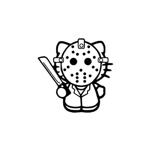 Hello Kitty s Hello Kitty Jason Friday The 13th Vinyl Sticker