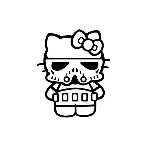 Hello Kitty s Hello Kitty Stormtrooper Style 3 Vinyl Sticker