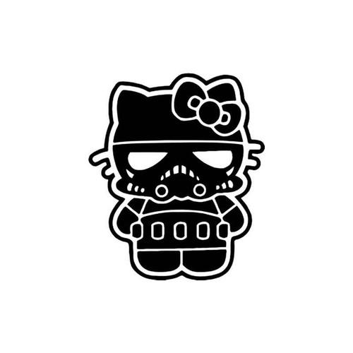 Hello Kitty s Hello Kitty Stormtrooper Star Wars Vinyl Sticker