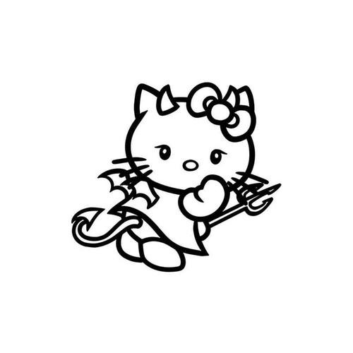 Hello Kitty Devil 60 Vinyl Sticker