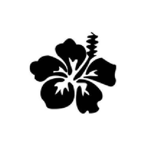 Hibiscus Flower Vinyl Sticker