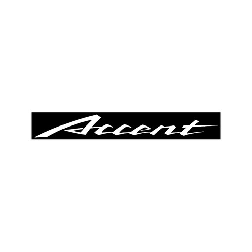Hyundai Accent Decal