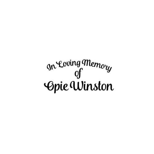In Loving Memory Of Opie Winston Sons Of Anarchy Vinyl Sticker