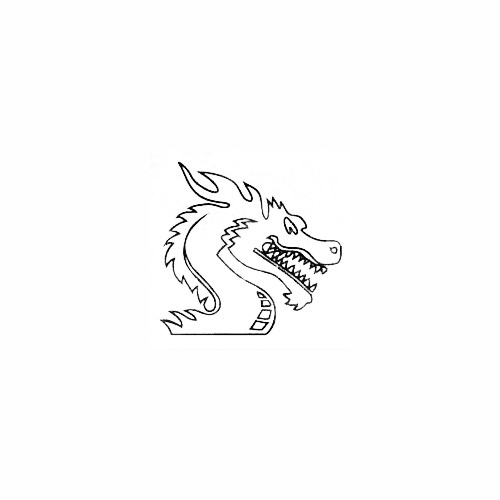 Dragon Head Window Decal Size option will determine the size from the longest side Industry standard high performance calendared vinyl film Cut from Oracle 651 2.5 mil Outdoor durability is 7 years Glossy surface finish