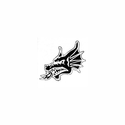 Dragon Head Window Decal (03) Size option will determine the size from the longest side Industry standard high performance calendared vinyl film Cut from Oracle 651 2.5 mil Outdoor durability is 7 years Glossy surface finish