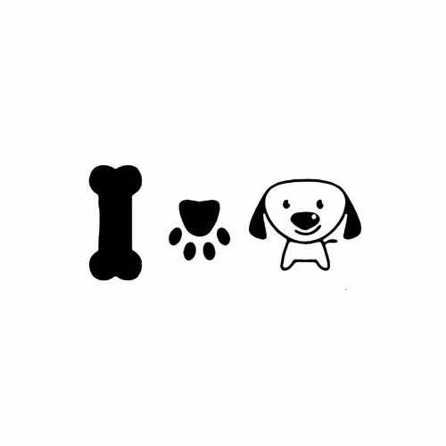 Trail Dog I Love Pets  Vinyl Decal Sticker  Size option will determine the size from the longest side Industry standard high performance calendared vinyl film Cut from Oracle 651 2.5 mil Outdoor durability is 7 years Glossy surface finish