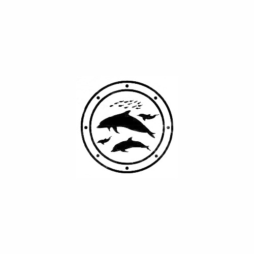 Dolphins Swimming Window Decal (06) Size option will determine the size from the longest side Industry standard high performance calendared vinyl film Cut from Oracle 651 2.5 mil Outdoor durability is 7 years Glossy surface finish
