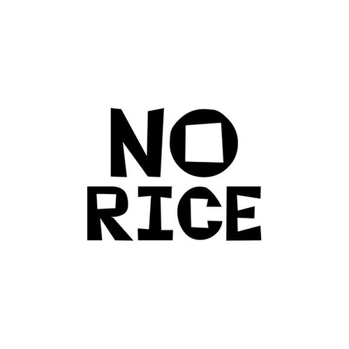 Jdm s No Rice Jdm Vinyl Sticker