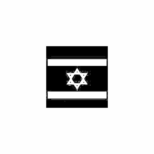 Israel Flag Window Decal Size option will determine the size from the longest side Industry standard high performance calendared vinyl film Cut from Oracle 651 2.5 mil Outdoor durability is 7 years Glossy surface finish