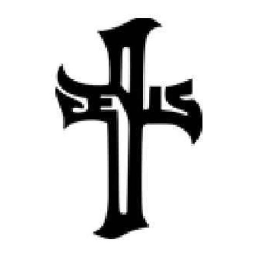 Jesus Cross Vinyl Sticker
