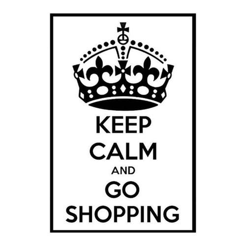 Keep Calm And Go Shopping 52 Vinyl Sticker