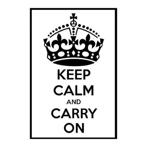 Keep Calm And Ry On 51 Vinyl Sticker
