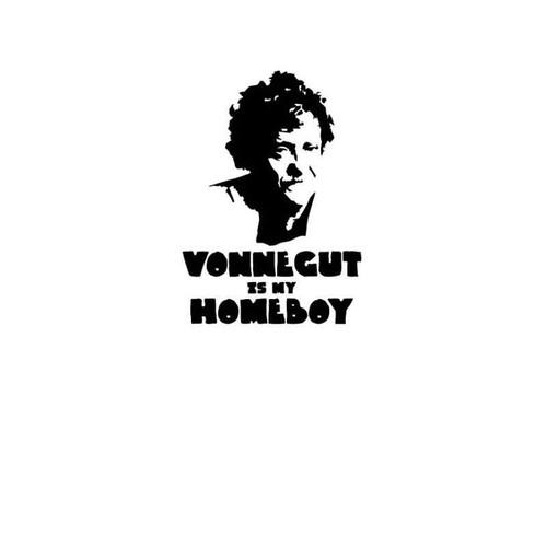 Kurt Vonnegut Is My Homeboy Vinyl Sticker