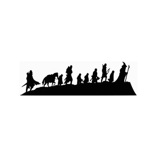 Lord Of The Rings Fellowship Vinyl Sticker