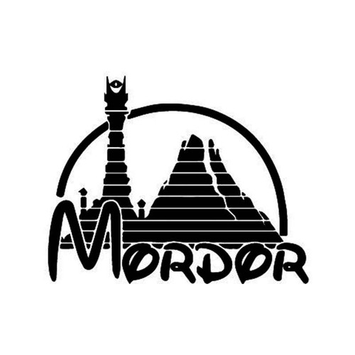 Lord Of The Rings Mordor Vinyl Sticker