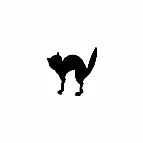 Halloween Cat Decal (01) Size option will determine the size from the longest side Industry standard high performance calendared vinyl film Cut from Oracle 651 2.5 mil Outdoor durability is 7 years Glossy surface finish