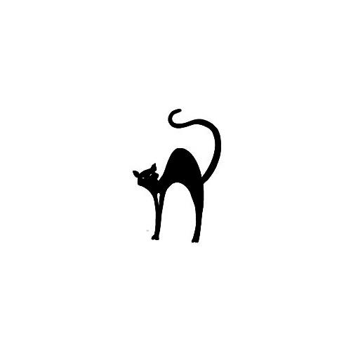 Halloween Cat Window Decal (04) Size option will determine the size from the longest side Industry standard high performance calendared vinyl film Cut from Oracle 651 2.5 mil Outdoor durability is 7 years Glossy surface finish
