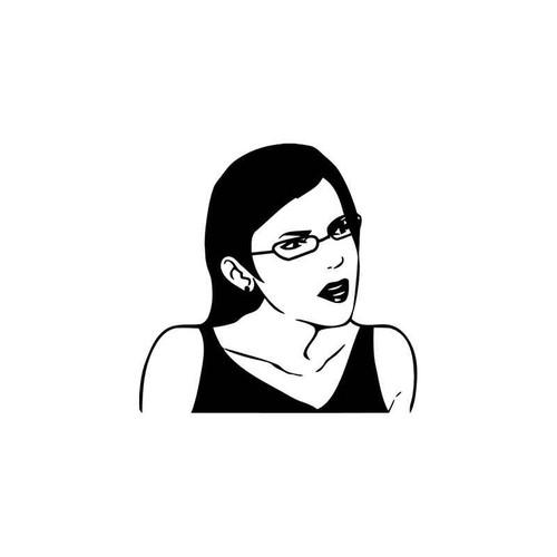 Meme s Female Seriously Glasses Meme Vinyl Sticker
