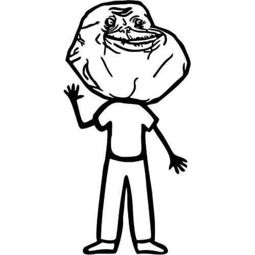 Meme s Forever Alone Family Guy Meme Vinyl Sticker