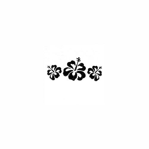 Hibiscus Flower Border 02 Vinyl Decal