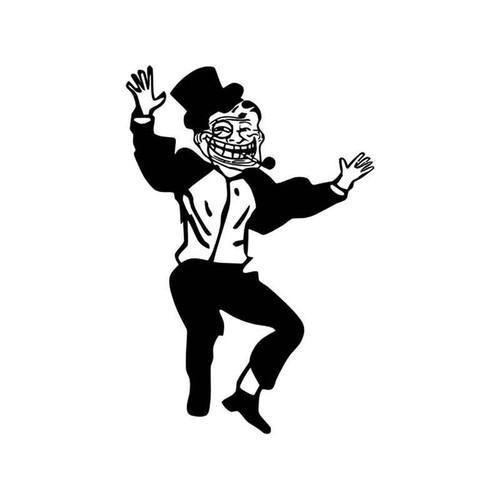 Meme s Troll Dad Dancing Meme Vinyl Sticker