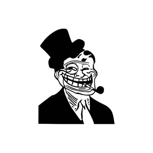 Meme s Troll Dad Top Hat Meme Vinyl Sticker