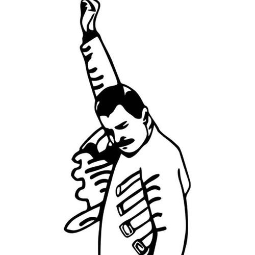 Meme s Victory Guy Freddie Mercury Meme Vinyl Sticker