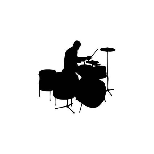 Music s Drums Music Style 2 Vinyl Sticker