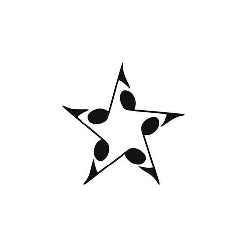 Music s Music Note Star Vinyl Sticker
