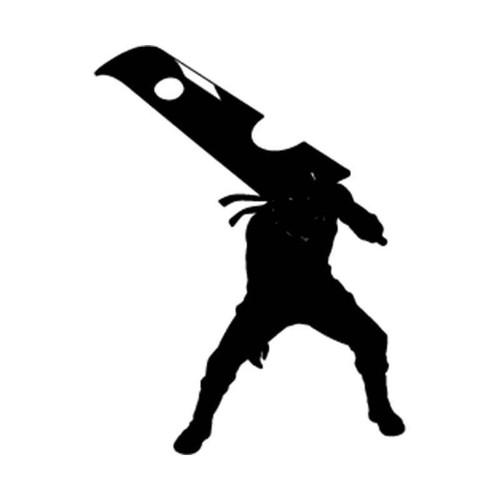 Naruto Zabuza Momochi Silhouette Vinyl Sticker