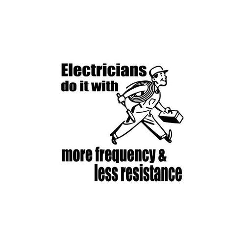 Occupational s Electrician Occupation Vinyl Sticker
