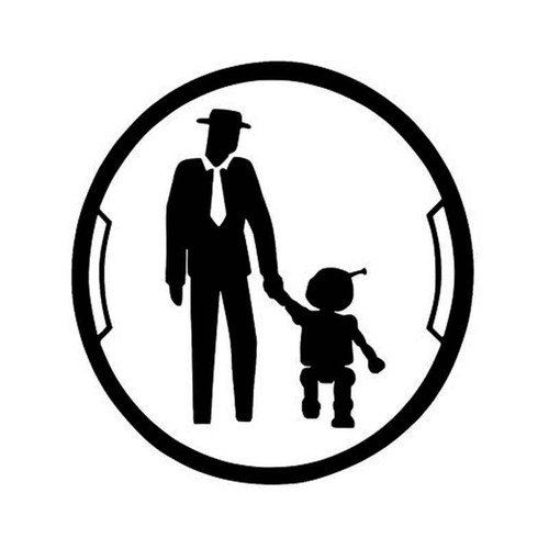 Overwatch Man And Omnic Friend Zone Achievement Spray For Vinyl Sticker