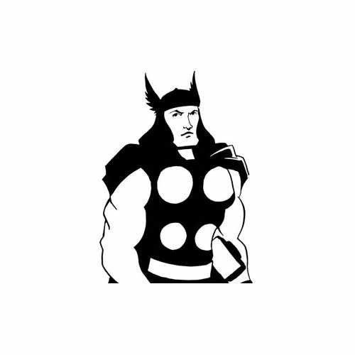 Thor Super Hero  Vinyl Decal Sticker  Size option will determine the size from the longest side Industry standard high performance calendared vinyl film Cut from Oracle 651 2.5 mil Outdoor durability is 7 years Glossy surface finish