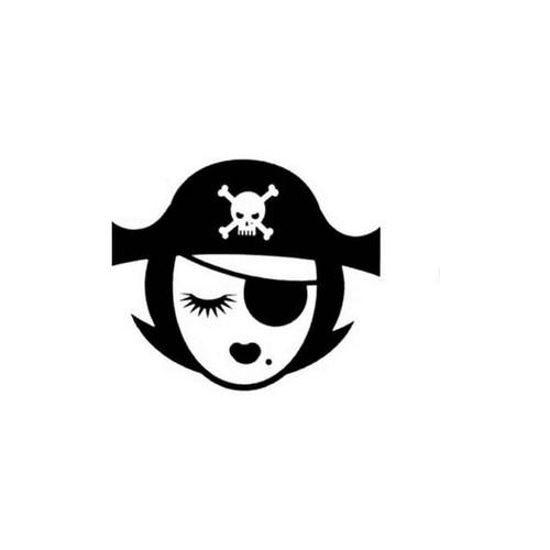 Pirate Girl 26 Vinyl Sticker