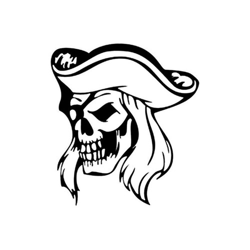 Pirate Skull 262 Vinyl Sticker