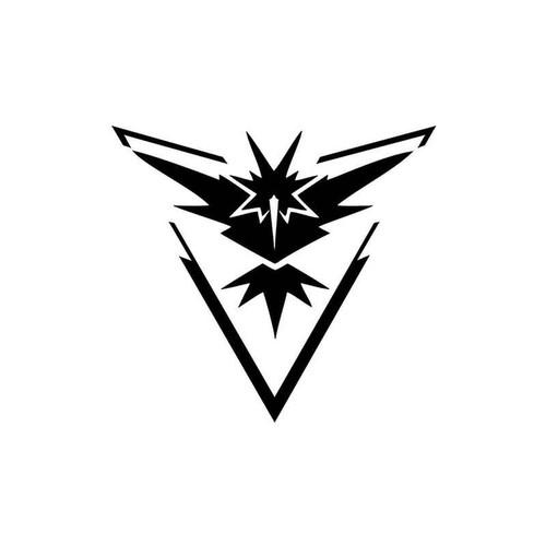 Pokemon Go Team Instinct Symbol 018 Vinyl Sticker