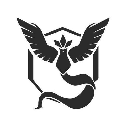 Pokemon Go Team Mystic Logo Symbol For Vinyl Sticker