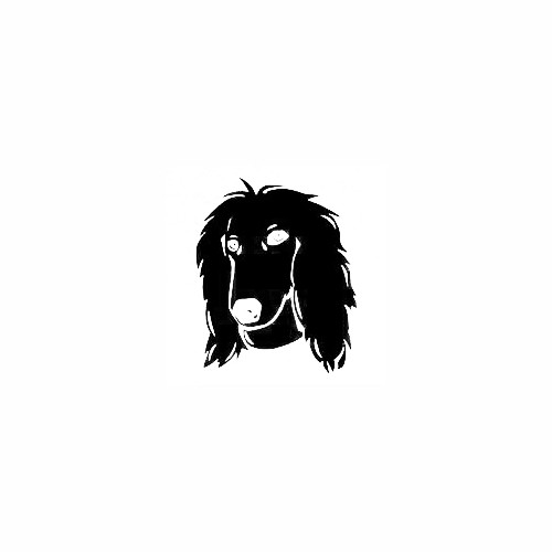 Afghan Hound Head Decal Size option will determine the size from the longest side Industry standard high performance calendared vinyl film Cut from Oracle 651 2.5 mil Outdoor durability is 7 years Glossy surface finish
