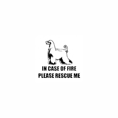 Afghan Hound Standing Fire Rescue Decal Size option will determine the size from the longest side Industry standard high performance calendared vinyl film Cut from Oracle 651 2.5 mil Outdoor durability is 7 years Glossy surface finish