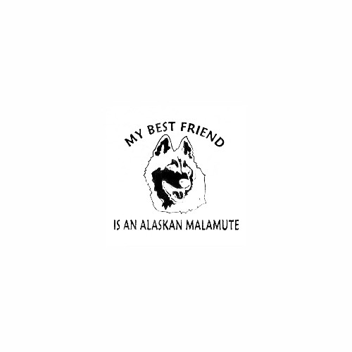 Alaskan Malamute Head Best Friend Decal Size option will determine the size from the longest side Industry standard high performance calendared vinyl film Cut from Oracle 651 2.5 mil Outdoor durability is 7 years Glossy surface finish