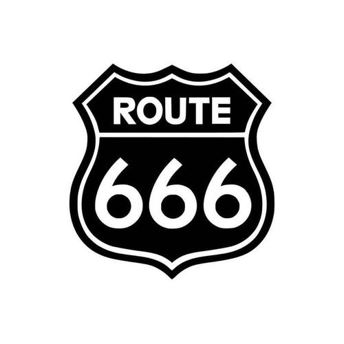 Route 666 49 Vinyl Sticker