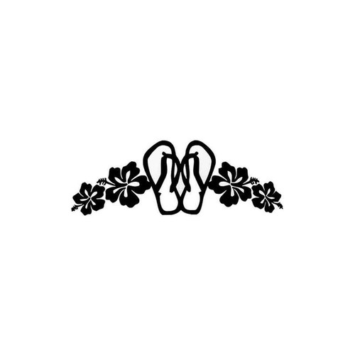 Sandals Hibiscus 67 Vinyl Sticker