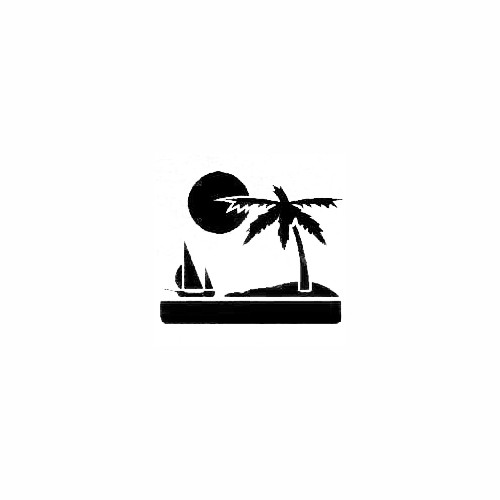 Palm Tree Scene 01 Size option will determine the size from the longest side Industry standard high performance calendared vinyl film Cut from Oracle 651 2.5 mil Outdoor durability is 7 years Glossy surface finish
