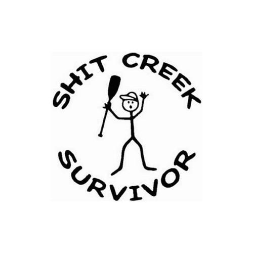 Shit Creek Survior 029 Vinyl Sticker