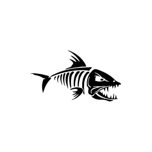 Skeleton Fish 822 Vinyl Sticker