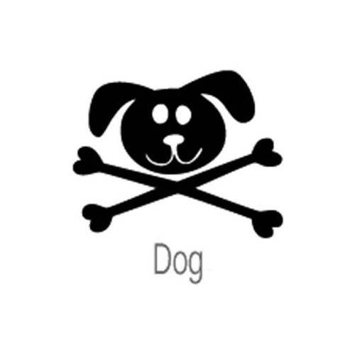 Skull Dog 74 Vinyl Sticker
