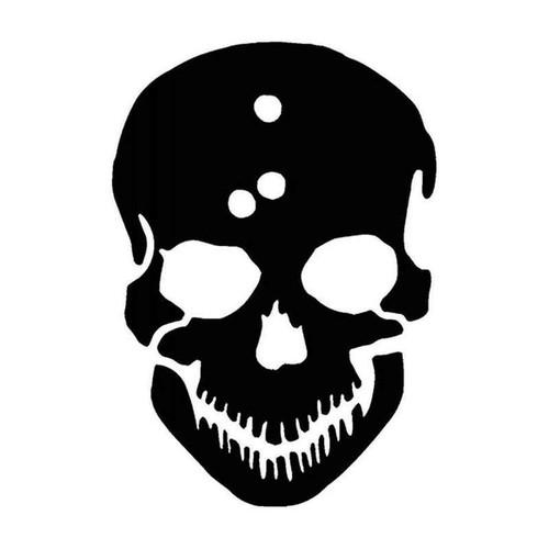 Skull Gun Shots 75 Vinyl Sticker