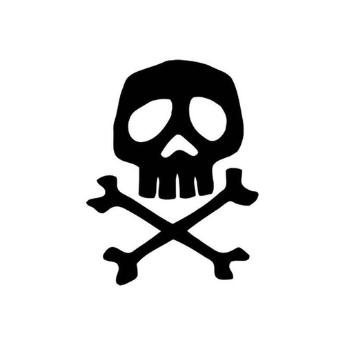 Skulls s Captain Harlock Space Pirate Skull Vinyl Sticker
